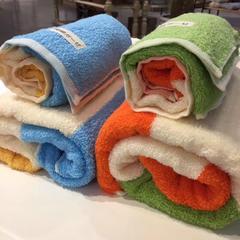 日本彩棉条浴巾2件套 蓝色+白金礼盒装