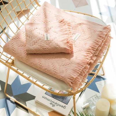 北欧流苏浴巾套 粉色