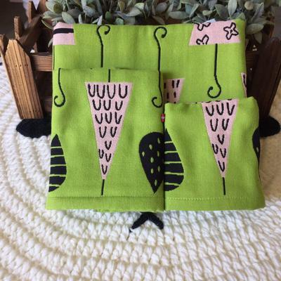 小伞浴巾三件套 绿色