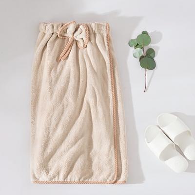 珊瑚绒---浴裙 均码 浅咖