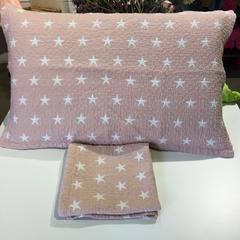 泡泡纱星语星愿枕巾 53*76 粉色