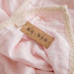 草木格子童被 110*110cm 粉色