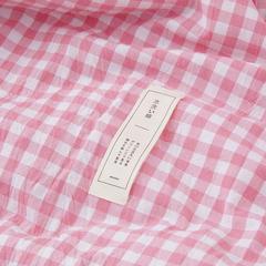 色织夏被---格子 120x150cm 粉