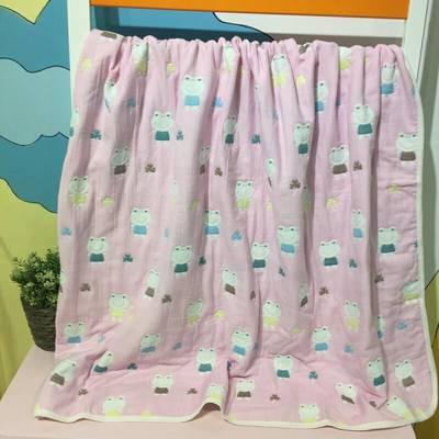 毛巾绣童被--青蛙 110x110cm 粉色