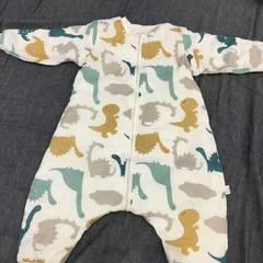 纯棉双层纱布爬服 80码 恐龙