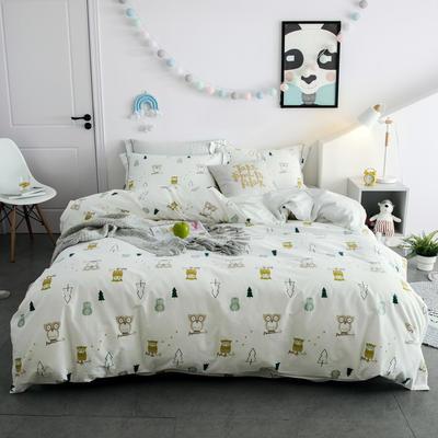 2018新款秋-由丽40S臻棉四件套 1.2m(4英尺)床三件套 歇息