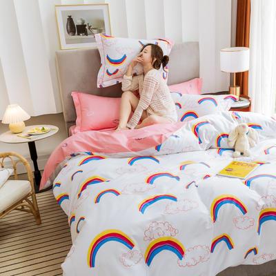 2019新款臻棉正宗13372四件套(第五批) 1.2m(4英尺)床三件套 彩虹