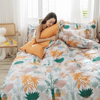 2020新款喷气全棉四件套 1.5m(5英尺)床 热带迷情