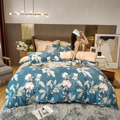 2020新款床单款床笠款四件套套件系列 1.8m床单款四件套 月韵 绿