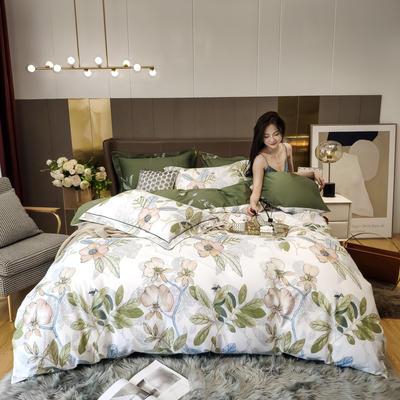 2020新款床单款床笠款四件套套件系列 1.8m床单款四件套 月韵 白