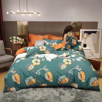 2020新款床单款床笠款四件套套件系列 1.8m床单款四件套 鎏锦 兰