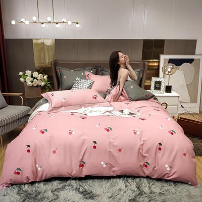 2020新款床单款床笠款四件套套件系列 1.2m床笠款三件套 可可小姐 粉