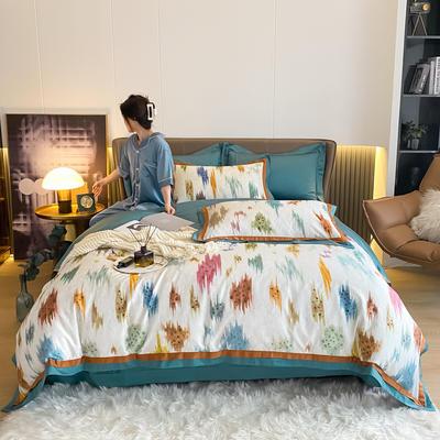 2021新款100支澳棉数码印花四件套 1.8m床单款四件套 涂艺