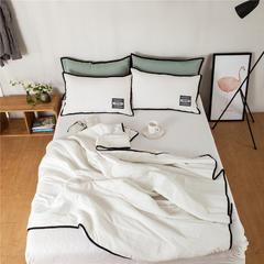 G+家纺 韩国彩棉春秋被三件套 200X230cm 白色