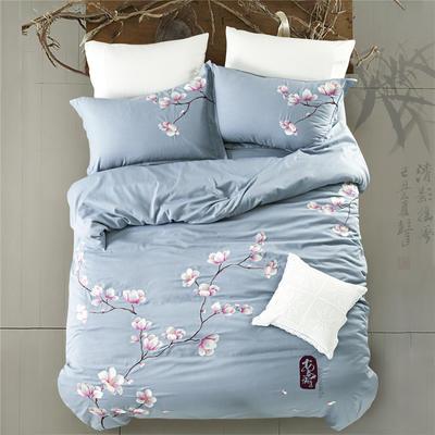 G+家纺 天丝棉麻系列四件套 2.0m(6.6英尺)床 爱意浓