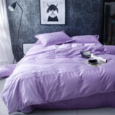 G+家纺 2017全棉蕾丝四件套 1.8m(6英尺)床 丁香紫