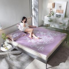 G+家纺 可水洗冰露丝凉席三件套 1.5*2.0m 江南小调 紫