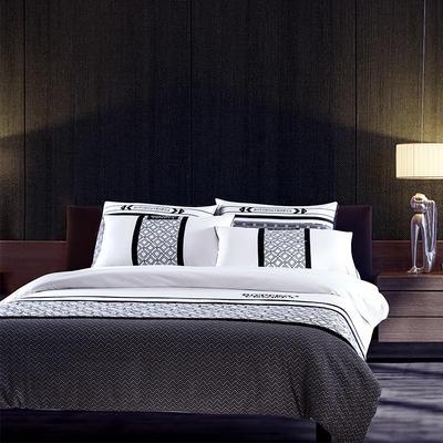 G+家纺 简约现代男士商务居家四件套 1.8m(6英尺)床 诺贝尔