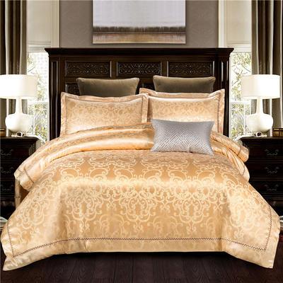 G+家纺 天丝棉提花四件套系列 1.8m(6英尺)床 尔雅时代