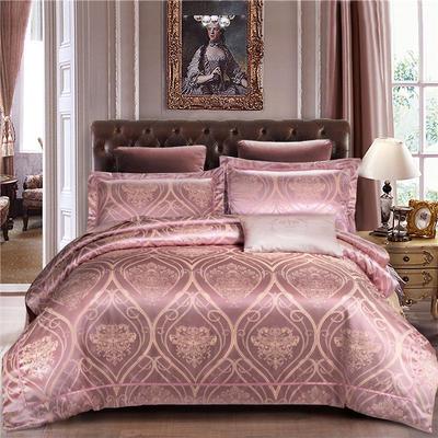 G+家纺 天丝棉提花四件套系列 1.8m(6英尺)床 魅惑之舞