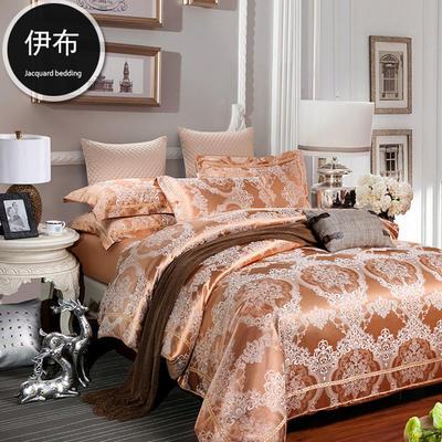 G+家纺 天丝棉提花四件套系列 1.8m(6英尺)床 伊布