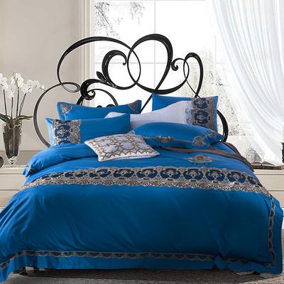 G+家纺 60贡缎刺绣六件套 1.8m(6英尺)床 艺雅