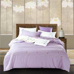 G+家纺 天丝棉麻系列四件套 1.5m(5英尺)床 情意缠绵
