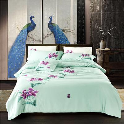 G+家纺 天丝棉麻系列四件套 1.5m(5英尺)床 茶花女