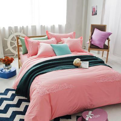 G+家纺 全棉蕾丝四件套 1.8m(6英尺)床 玉色