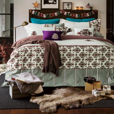 G+家纺 设计师款印加绣系列四件套 1.8m(6英尺)床 凯撒