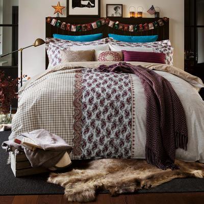 G+家纺 设计师款印加绣系列四件套 1.8m(6英尺)床 佩斯利