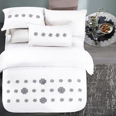 G+家纺 夜魅四件套系列 1.8m(6英尺)床 雪见