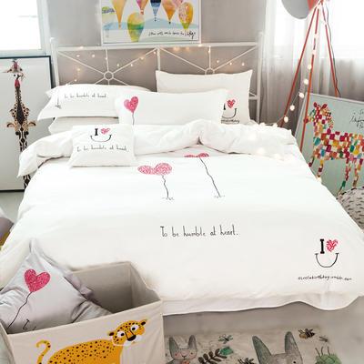 G+家纺 全棉卡通绣花系列四件套 1.5m(5英尺)床 艾德琳