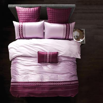 G+家纺 纯丝四件套 1.8m(6英尺)床 布莱克
