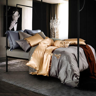 G+家纺 纯丝四件套 1.8m(6英尺)床 奥斯顿
