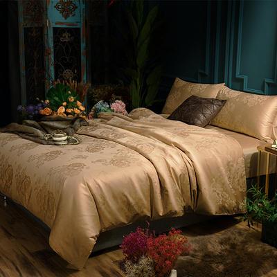 G+家纺 全棉莫代尔提花四件套 1.5m(5英尺)床 贵族风范