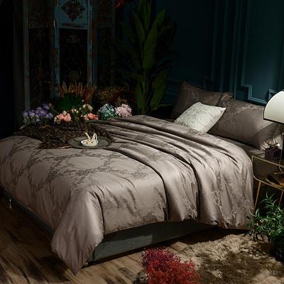G+家纺 全棉莫代尔提花四件套 1.5m(5英尺)床 花情雅致