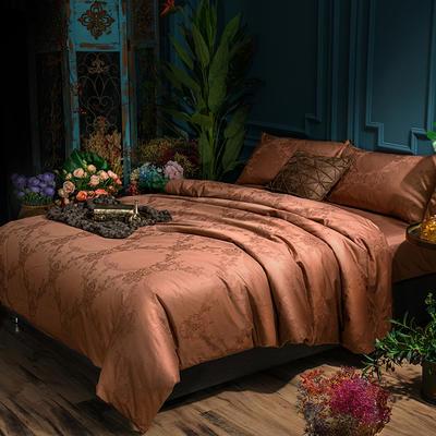 G+家纺 全棉莫代尔提花四件套 1.5m(5英尺)床 华丽盛典