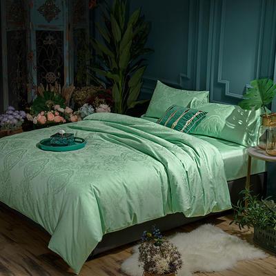G+家纺 全棉莫代尔提花四件套 1.8m(6英尺)床 漫花仙境