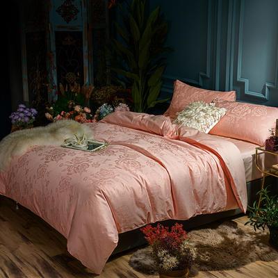 G+家纺 全棉莫代尔提花四件套 1.5m(5英尺)床 倾城浪漫