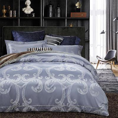 G+家纺 天丝棉提花四件套系列 1.5m(5英尺)床 罗浮宫