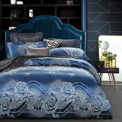G+家纺 天丝棉提花四件套系列 1.8m(6英尺)床 香缇