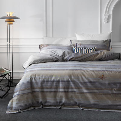 G+家纺 全棉色织四件套 1.5m(5英尺)床 安德拉