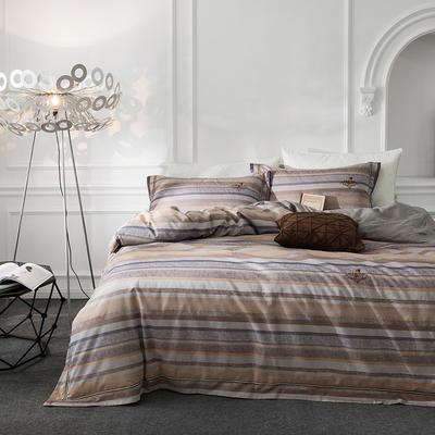 G+家纺 全棉色织四件套 1.5m(5英尺)床 艾雷诺