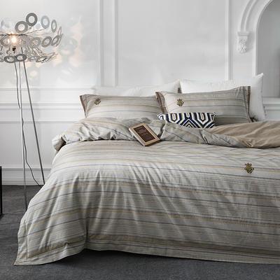 G+家纺 全棉色织四件套 1.5m(5英尺)床 安曼之约