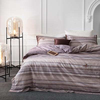 G+家纺 全棉色织四件套 1.5m(5英尺)床 瓷都兰梦