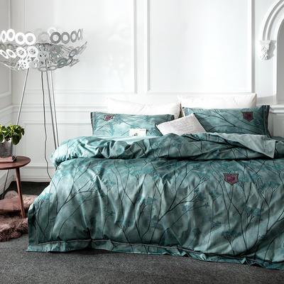G+家纺 全棉色织四件套 1.5m(5英尺)床 翡翠华府