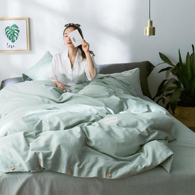 G+家纺 全棉暖绒四件套 1.8m(6英尺)床 律感 绿色