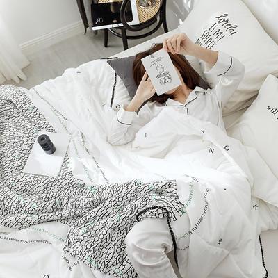 G+家纺 舒爽棉印花夏被 150x200cm 白江