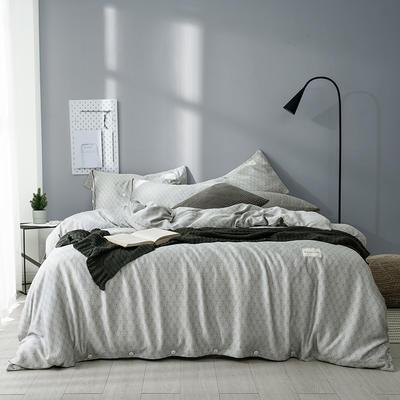 G+家纺 奥地利兰精天丝四件套 1.8m(6英尺)床 海松 灰色